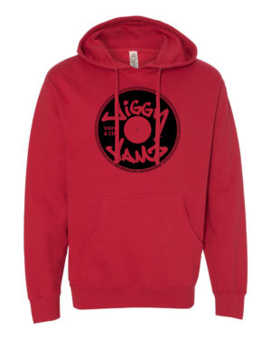 Black on red hoody - JiggyJamz Sweatshirt