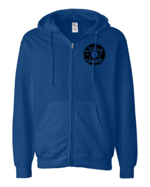 Black on royal zip hood - JiggyJamz Sweatshirt