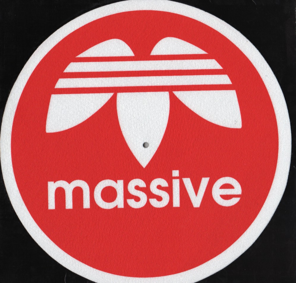 Massive Logo Slipmat Pair Jiggyjamz Vinyl Records