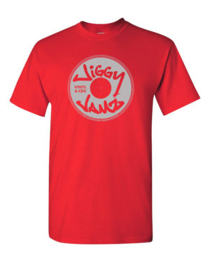 Silver on red - JiggyJamz T-Shirt