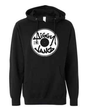 White on black hoody - JiggyJamz Sweatshirt