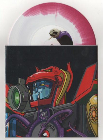 """Skratchy Seal - Super Seal Giant Robo V.1 (Head) (7"""", Ltd, Pur) Label:Thud Rumble, Dirt Style Records Cat#: ROBO-001"""
