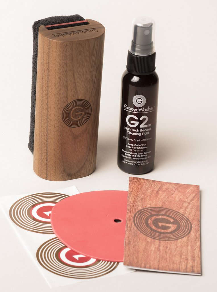 Groovewasher Record Cleaning Starter Kit Wood